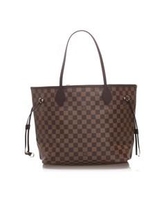 Louis Vuitton Damier Ebene Neverfull Mm Brown