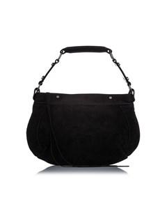 Balenciaga Suede Hobo Bag Black