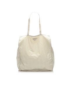 Prada Tessuto Stampato Tote Bag White