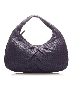 Bottega Veneta Intrecciato Leather Hobo Bag Blue