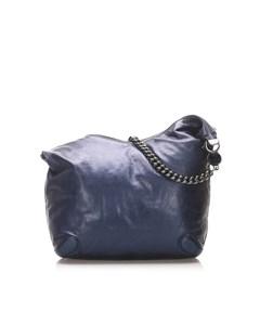 Gucci Galaxy Chain Leather Hobo Bag Blue