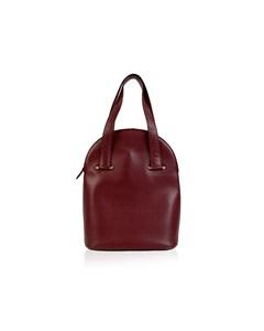 Cartier Vintage Burgundy Leather Tote Handbag Satchel