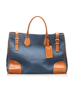 Prada Canapa Tote Bag Blue