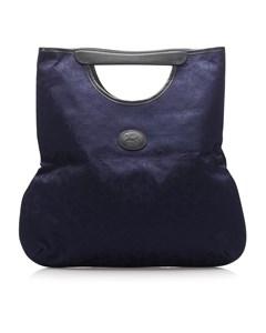 Celine C Macadam Canvas Tote Bag Blue