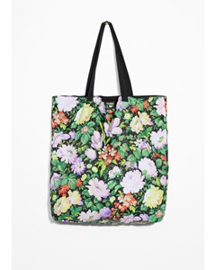 Floral Tote Bag Green