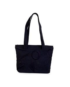 Gianni Versace Vintage Blue Leather Tote Shoulder Bag
