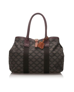 Celine Macadam Tote Bag Brown