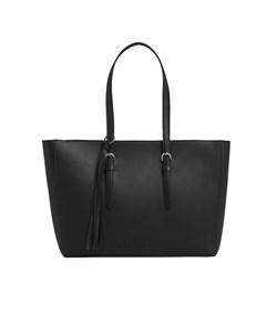Calvin Klein Black Fringes Shopping Bag