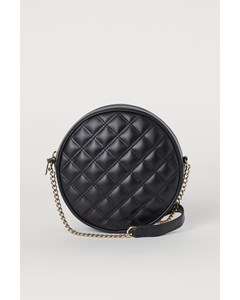 Gabriel Quilted Round Bag Black