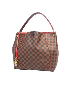 Louis Vuitton Damier Ebene Caissa Hobo Brown