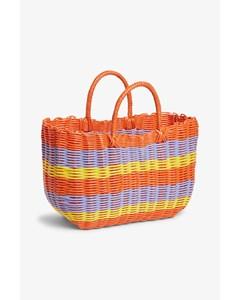 Basket Bag Stripes At Sunrise
