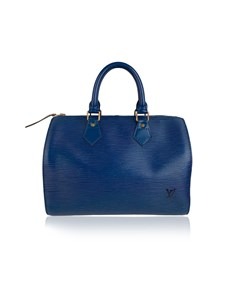 Louis Vuitton Vintage Toledo Blue Epi Leather Speedy 25 Boston Bag