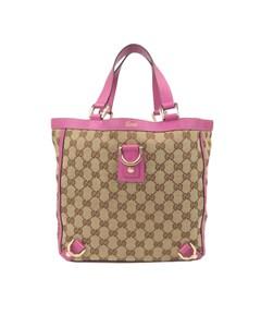 Gucci Gg Canvas Abbey Tote Bag Brown