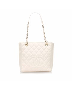 Chanel Caviar Petite Shopping Tote White