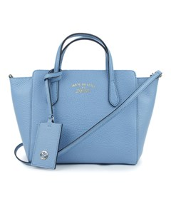Gucci Swing Leather Satchel Blue