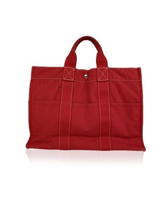 Hermes Paris Vintage Blue Cotton Tote Bag Fourre Tout Mm Handbag