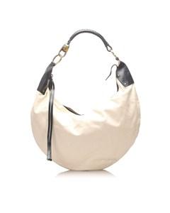 Gucci Nylon Hobo Bag White