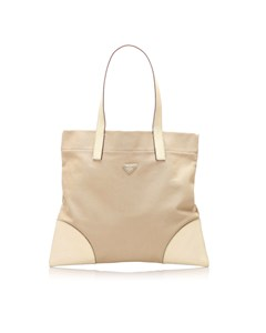 Prada Canvas Tote Bag Brown