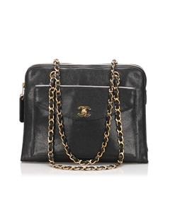Chanel Caviar Leather Tote Bag Black