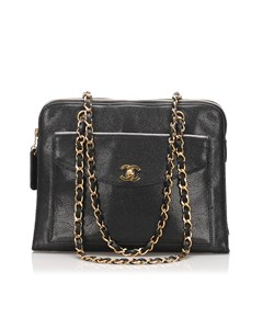 Chanel Caviar Leather Tote Bag Black