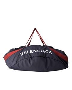 Balenciaga Xl Wheel Everyday Nylon Travel Bag Blue