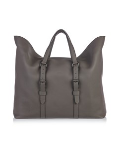 Gucci Leather Grand Prix Weekend Duffel Bag Gray