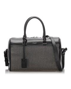 Ysl Studded Baby Classic Duffel Bag Black