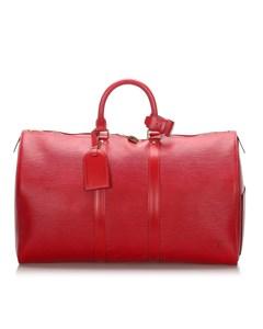 Louis Vuitton Epi Keepall 45 Red