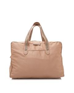 Stella Mccartney Nylon Falabella Go Travel Bag Brown