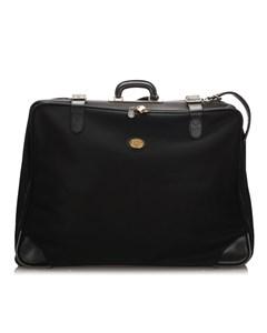 Burberry Leather Travel Bag Black
