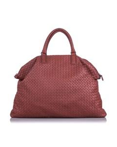 Bottega Veneta Maxi Intrecciato Convertible Travel Bag Red