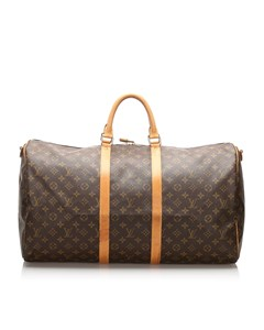 Louis Vuitton Monogram Keepall Bandouliere 55 Brown