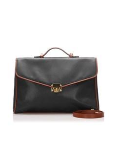 Bottega Veneta Leather Briefcase Black