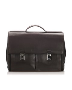 Gucci Leather Business Bag Black