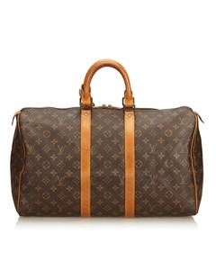 Louis Vuitton Monogram Keepall 45 Brown