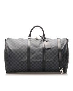 Louis Vuitton Damier Graphite Keepall Bandouliere 55 Black
