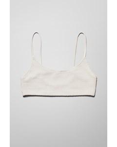 Sunny Structured Swim Top White