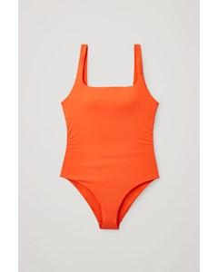 Open-back Swimsuit Orange