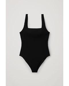 Open-back Swimsuit Black