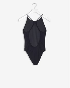 Athletic-cut Swimsuit Black