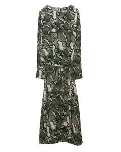 Isabel Dress  Green Snake