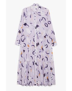 Maxi Shirt Dress Lavender