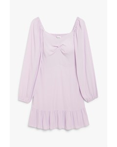 Sweetheart Neckline Dress Light Purple