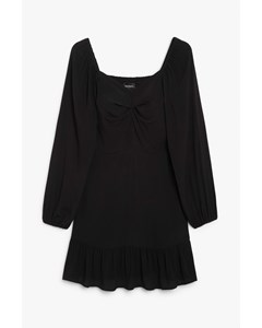 Sweetheart Neckline Dress Black