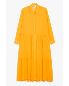 Maxi Shirt Dress Yellow