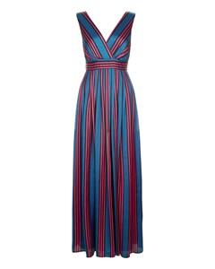 Cascade Dress  Blue Red