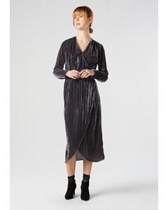 Lilja Velvet Dress Dark Grey