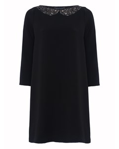 Eliza Crepe L/s Tunic Dress Black