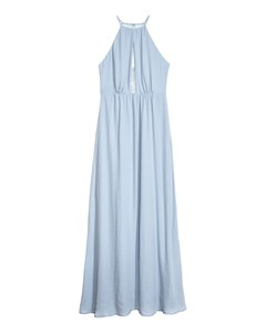 Long Dress With A Lace Back Blue
