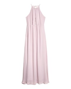 Long Dress With A Lace Back Pink